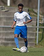 FODBOLD: Abdulkadir Abdullahi (Humlebæk) under kampen i Serie 2 mellem Ølstykke FC og Humlebæk Boldklub den 6. april 2019 på Ølstykke Stadion. Foto: Claus Birch.