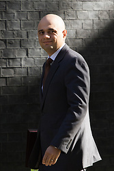 Downing Street, London, May 3rd 2016. State for Business Secretary Sajid Javid arrives at 10 Downing Street for the weekly cabinet meeting. &copy;Paul Davey<br /> FOR LICENCING CONTACT: Paul Davey +44 (0) 7966 016 296 paul@pauldaveycreative.co.uk