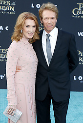 Jerry Bruckheimer and Linda Bruckheimer at the U.S. premiere of 'Pirates Of The Caribbean: Dead Men Tell No Tales' held at the Dolby Theatre in Hollywood, USA on May 18, 2017.