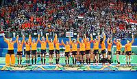 RIO DE JANEIRO -  Zilver voor  Oranje na de finale tussen de dames van Nederland en  Groot-Brittannie (3-3) in het Olympic Hockey Center tijdens de Olympische Spelen in Rio.  GB wint na shoot outs .COPYRIGHT KOEN SUYK