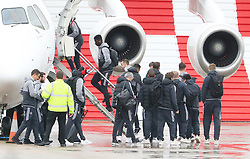 Axel Tuanzebe as the Manchester United team fly to Wales on Tuesday morning for their Carabao Cup match against Swansea City