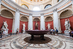 The Round room (Sala Rotonda) in the Vatican Museum in Rome, Italy