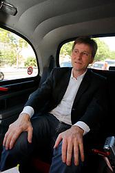 UNITED KINGDOM LONDON 2JUN09 - Michel Parmigiani, president of Parmigiani Fleurier SA rides in a London black cab whilst being interviewed...jre/Photo by Jiri Rezac..© Jiri Rezac 2009
