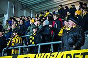 G&Ouml;TEBORG - 2018-02-18: Supportrar till BK H&auml;cken under matchen i Svenska Cupen, grupp 4, mellan BK H&auml;cken och IFK V&auml;rnamo den 18 februari 2018 p&aring; Bravida Arena i G&ouml;teborg, Sverige.<br /> Foto: Anders Ylander/Ombrello<br /> ***BETALBILD***
