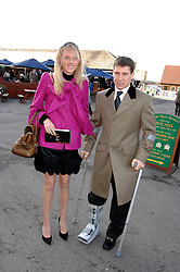 RICHARD JOHNSON and his wife FIONA at the 2007 Hennessy Gold Cup held at Newbury racecourse, Berkshire on 1st December 2007.<br />