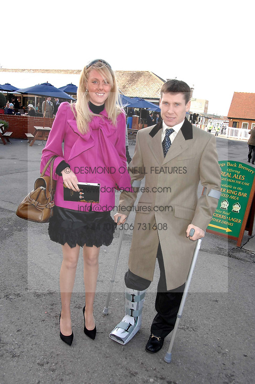 RICHARD JOHNSON and his wife FIONA at the 2007 Hennessy Gold Cup held at Newbury racecourse, Berkshire on 1st December 2007.<br /><br />NON EXCLUSIVE - WORLD RIGHTS