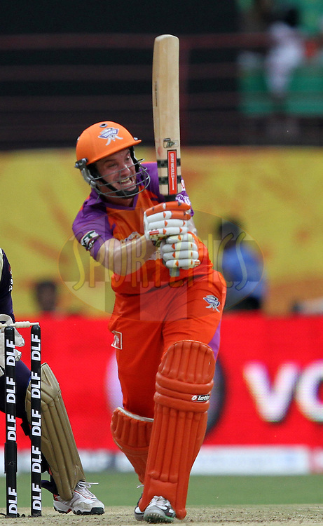 M. Kilnger of KTK in action during match 45 of the Indian Premier League ( IPL ) Season 4 between the Kochi Tuskers Kerala and the Kolkata Knight Riders held at the Kallor Jawaharlal Nehru International Stadium in Kochi, Kerala  India on the 5th May  2011..Photo by Prashant Bhoot/BCCI/SPORTZPICS