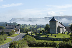 September 1, 2017 - Llanddewi'R Cwm, Powys, Wales, United Kingdom - Llanddewi'r Cwm,, Powys, Wales, UK. On the first day of Autumn temperatures dropped to around 6-8 deg Celsius last night and there was heavy fog in the valleys in Powys, Wales, UK. (Credit Image: © Graham M. Lawrence/London News Pictures via ZUMA Wire)