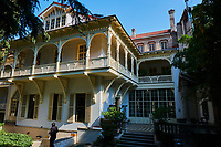 Georgie, Caucase, Tbilissi, vieille ville, le café Littera// Georgia, Caucasus, Tbilisi, old city, Café Littera