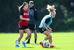 Katie Robinson and Carla Humphrey of Bristol City Women during training at Failand - Mandatory by-line: Robbie Stephenson/JMP - 26/09/2019 - FOOTBALL - Failand Training Ground - Bristol, England - Bristol City Women Training