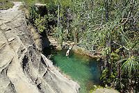 Madagascar. Parc National de l'Isalo. Piscine naturel. // Madagascar. National Park of Isalo. Natural swimming pool.