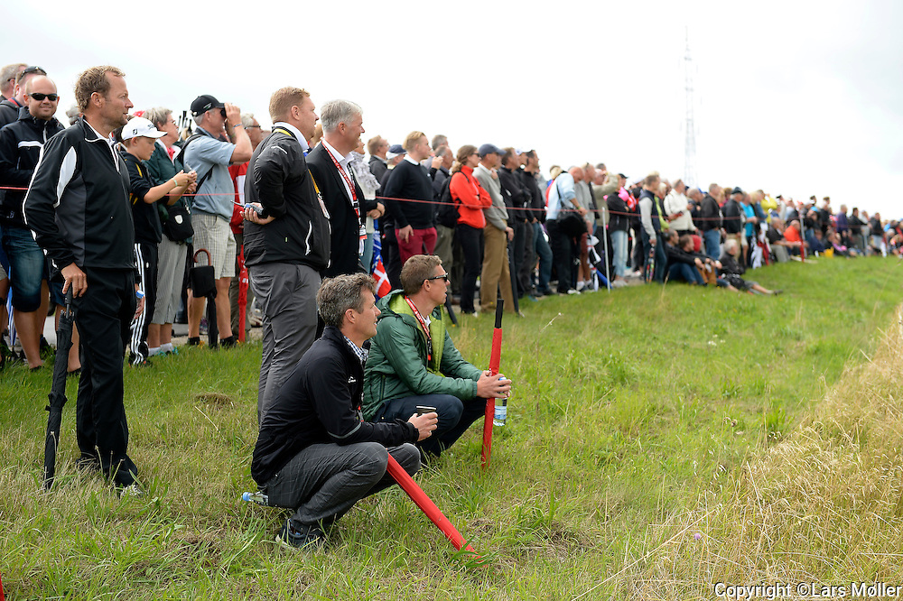 DK Caption:<br /> 20140814, Aars, Danmark:<br /> Made in Denmark Golf. 1. runde: Kronprins Frederik f&oslash;lger Thomas Bj&oslash;rn<br /> Foto: Lars M&oslash;ller<br /> UK Caption:<br /> 20140814, Aars, Denmark:<br /> Made in Denmark Golf. 1. round: Crown Prince Frederik is following Thomas Bjoern<br /> Photo: Lars Moeller