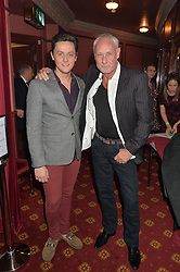 Left to right, actor TYGER DREW-HONEY and his father SIMON HONEY at the opening night of Cinderella at The New Wimbledon Theatre, 93 The Broadway, London SW19 1QG on 9th December 2014.