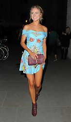 Kimberley Garner attends LFW s/s 2017: Pam Hogg catwalk show & afterparty during London Fashion Week at The Freemasons' Hall in London. UK. 16/09/2016<br />