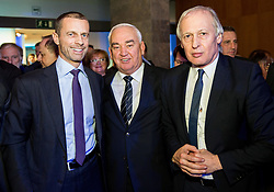 Aleksander Ceferin, president of UEFA, Franc Kopatin and ...  during Traditional New Year party of of the Slovenian Football Association - NZS, on December 20, 2018 in Gospodarsko razstavisce, Ljubljana, Slovenia. Photo by Vid Ponikvar / Sportida
