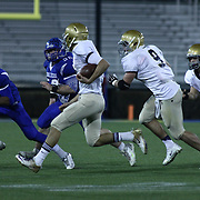 Salesianum quarterback Matt Sgro (3) rushes extra yardage in the second quarter of the DIAA State Championship football game against Middletown Saturday, Nov. 30 2013, at Delaware Stadium in Newark Delaware.