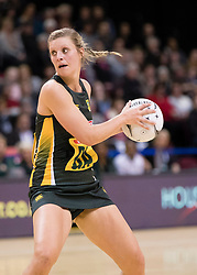 South Africas Maryka Holtzhausen looks to pass the ball against England in the Netball Quad Series netball match, ILT Stadium Southland, Invercargill, New Zealand, Sept. 3 2017.  Credit:SNPA / Adam Binns ** NO ARCHIVING**