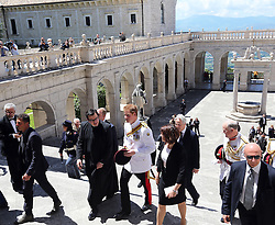 Prince Harry at Monte Cassino Abbey in Italy as part of the 70th anniversary commemorations of the Battle of Monte Cassino,  Sunday, 18th May 2014. Picture by Stephen Lock / i-Images