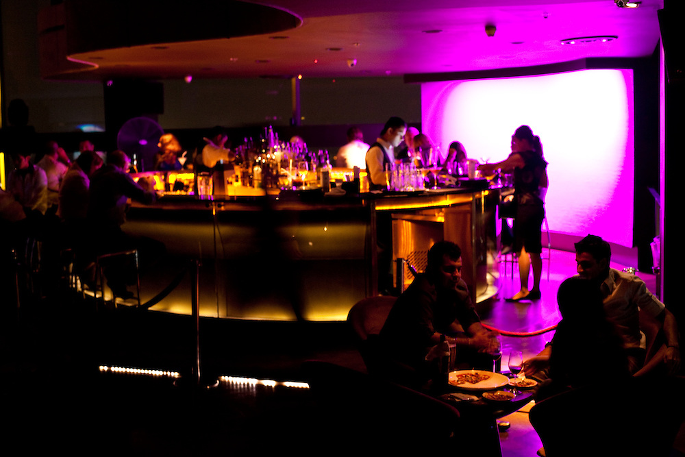 Crowd at New Asia Bar, Singapore