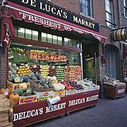 Massachusetts, Boston; Beacon Hill;  Deluca's Italian Market On Charles Street