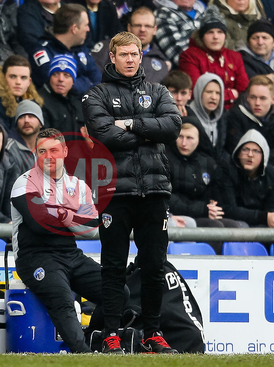 Oldham Athletic Manager, Dean Holden   - Photo mandatory by-line: Matt McNulty/JMP - Mobile: 07966 386802 - 03/04/2015 - SPORT - Football - Oldham - Boundary Park - Oldham Athletic v Bristol City - Sky Bet League One