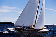 Nor'easter sailing in the Indian Harbor Classic Yacht Regatta.