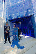 "Venice, Italy - 15th Architecture Biennale 2016, ""Reporting from the Front"".<br /> Giardini.<br /> Opening Ceremony of Netherlands Pavilion.<br /> BLUE: Architecture of U.N. Peacekeeping Missions."