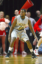 22 February 2012:  Ben Smith during an NCAA Missouri Valley Conference mens basketball game between the Wichita State Shockers and the Illinois State Redbirds in Redbird Arena, Normal IL