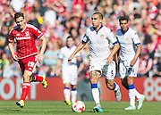 Leeds United FC defender Giuseppe Bellusci   in action during the Sky Bet Championship match between Middlesbrough and Leeds United at the Riverside Stadium, Middlesbrough, England on 27 September 2015. Photo by George Ledger.