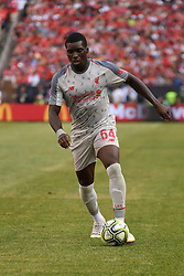 July 28, 2018 - Ann Arbor, MI, U.S. - ANN ARBOR, MI - JULY 28: Liverpool Midfielder Sheyi Ojo (54) in action during the ICC soccer match between Manchester United FC and Liverpool FC on July 28, 2018 at Michigan Stadium in Ann Arbor, MI (Photo by Allan Dranberg/Icon Sportswire) (Credit Image: © Allan Dranberg/Icon SMI via ZUMA Press)