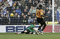 Fotball<br /> England 2004/2005<br /> Foto: SBI/Digitalsport<br /> NORWAY ONLY<br /> 22.01.2005<br /> <br /> Seyi Olofinjana scores<br /> <br /> Millwall v Wolverhampton<br /> <br /> Coca Cola Championship