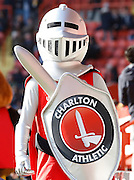 Charlton Athletic FC mascot before the Sky Bet Championship match between Charlton Athletic and Middlesbrough at The Valley, London, England on 13 March 2016. Photo by Andy Walter.