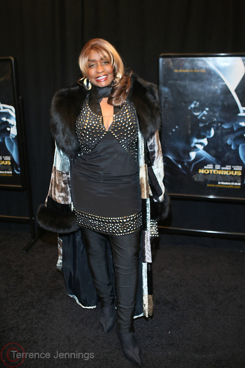 "7 January-NY, NY - Janice Combs at The Notorious premiere held at AMC Lincoln Square on January 7, 2009 in New York City. Photo Credit: Terrence Jennings/Sipa Press..Notorious charts the remarkable rise of Christopher "" The Notorious B.i.G ""-who in just a few short years, shot from the tough streets of Brooklyn to the heights of hip-hop legend."