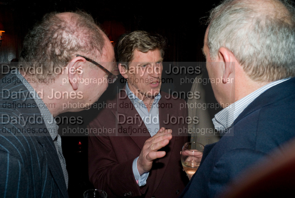 HENRY BRANDMAN; BROUGH SCOTT; KELVIN MACKENZIE, Book launch for Citizen by Charlie Brooks. Tramp. London. 1 April  2009