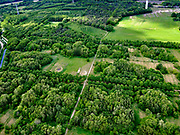 Nederland, Noord-Brabant, Tilburg-Noord; 14–05-2020; recreatiegebied Noorderbos, aangelegd op voormalige vloeivelden (gebruikt voor waterzuivering).<br /> Noorderbos recreation area, built on former flow fields (used for water purification).<br /> <br /> luchtfoto (toeslag op standaard tarieven);<br /> aerial photo (additional fee required)<br /> copyright © 2020 foto/photo Siebe Swart