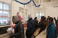 Roma, 31/12/2015: CIE di Ponte Galeria, la mensa della sezione femminile - canteen in women's section of the Center of Identification and Expulsion of Ponte Galeria