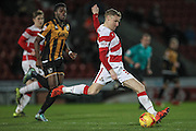 Craig Alcock (Doncaster Rovers) during the Sky Bet League 1 match between Doncaster Rovers and Port Vale at the Keepmoat Stadium, Doncaster, England on 26 January 2016. Photo by Mark P Doherty.