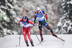 March 9, 2019 - –Stersund, Sweden - 190309 Andrejs Rastorgujevs of Latvia and Michal Krcmar of Czech Republic competes in the Men's 10 KM sprint during the IBU World Championships Biathlon on March 9, 2019 in Östersund..Photo: Petter Arvidson / BILDBYRÃ…N / kod PA / 92252 (Credit Image: © Petter Arvidson/Bildbyran via ZUMA Press)