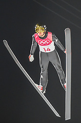 February 10, 2018 - Pyeonchang, Gangwon, South Korea - Sevoie Vincent Descombes of France at mens normal hill final at 2018 Pyeongchang winter olympics at Alpensia Ski Jumping Centre, Pyeongchang, South Korea on February 10, 2018. Ulrik Pedersen/Nurphoto  (Credit Image: © Ulrik Pedersen/NurPhoto via ZUMA Press)