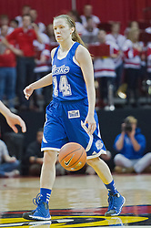 03 January 2014:  Alyssa Marschner during an NCAA women's basketball game between the Drake Bulldogs and the Illinois Sate Redbirds at Redbird Arena in Normal IL