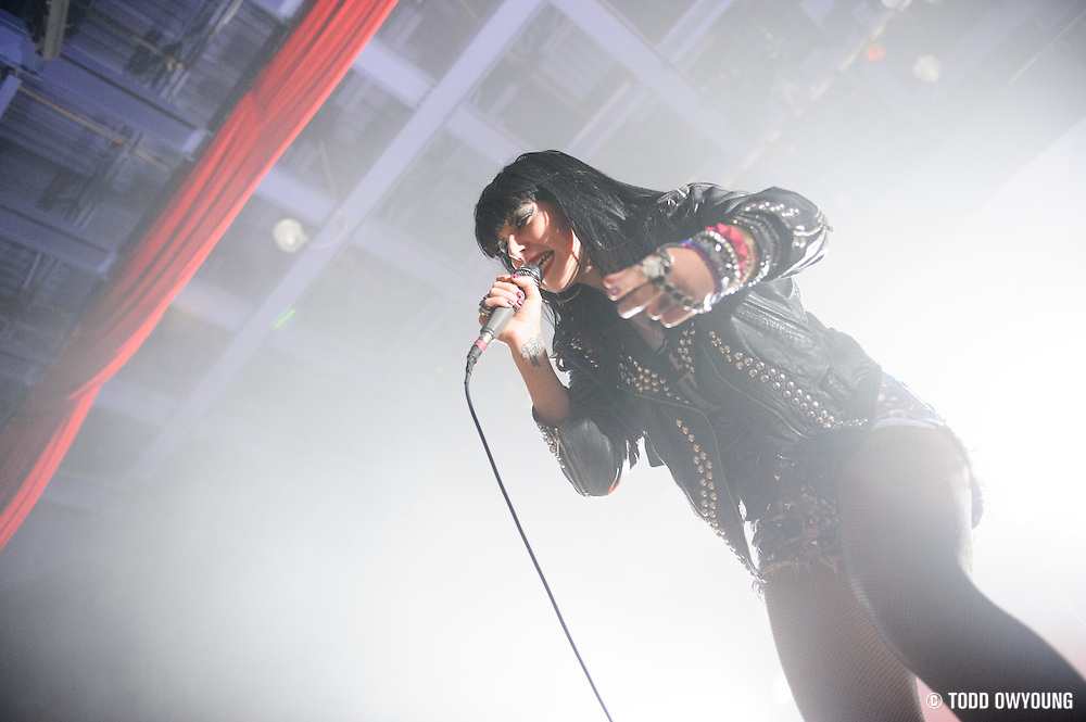 Sleigh Bells performing live at the Pageant in St. Louis on October 28, 2012.