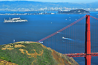 Alcatraz Island & Golden Gate Bridge