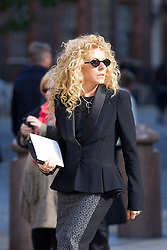 © Licensed to London News Pictures. 12/10/2012. LONDON, UK. Interior Designer Kelly Hoppen is seen outside St Paul's Cathedral after a memorial service for hairdresser Vidal Sassoon in London today (12/10/12) . Photo credit: Matt Cetti-Roberts/LNP
