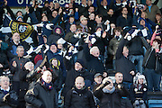 Dundee fans celebrate Steven Milne's equaliser - Dundee v Kilmarnock, William Hill Scottish FA Cup 4th Round,..- © David Young - .5 Foundry Place - .Monifieth - .DD5 4BB - .Telephone 07765 252616 - .email; davidyoungphoto@gmail.com - .web; www.davidyoungphoto.co.uk.