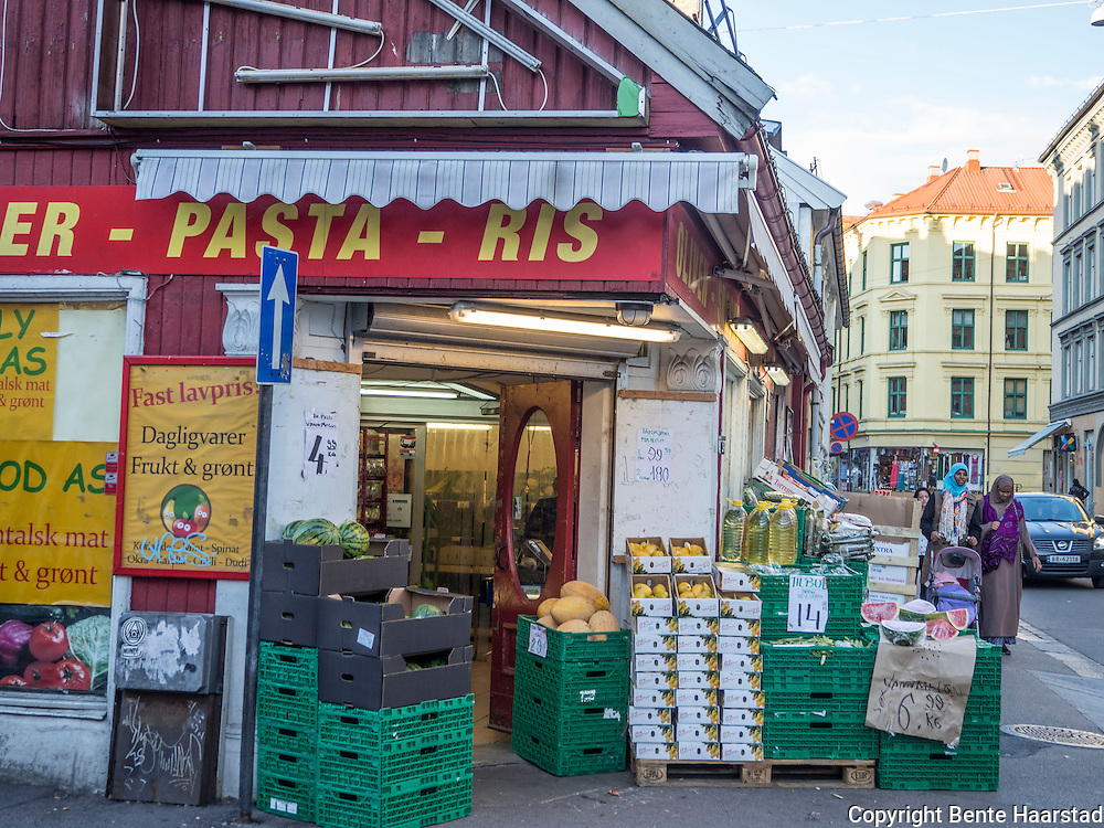 Fruktbutikk, Grønland, Oslo.