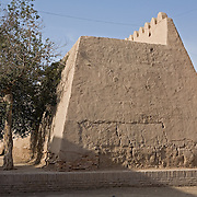Side view of strong city walls, Khiva