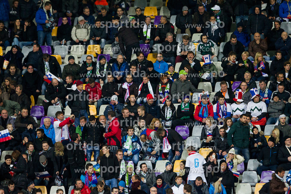 Supporters of Slovenia during the UEFA EURO 2016 Play-off for Final Tournament, Second leg between Slovenia and Ukraine, on November 17, 2015 in Stadium Ljudski vrt, Maribor, Slovenia. Photo by Urban Urbanc / Sportida