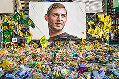 Tributes To Emiliano Sala - Nantes - 10 Feb 2019