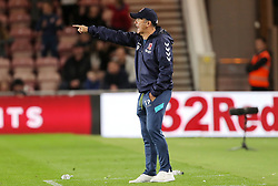 Middlesbrough manager Tony Pulis gestures on the touchline during the Sky Bet Championship match at the Riverside Stadium, Middlesbrough