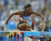 Melissa Morrison of the United States was third in the women's 100-meter hurdles in 12.56 in the 2004 Olympics in Athens, Greece on Tuesday, August 24, 2004.